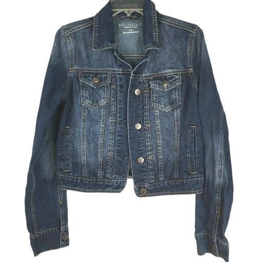Aeropostale L distressed biker jacket L