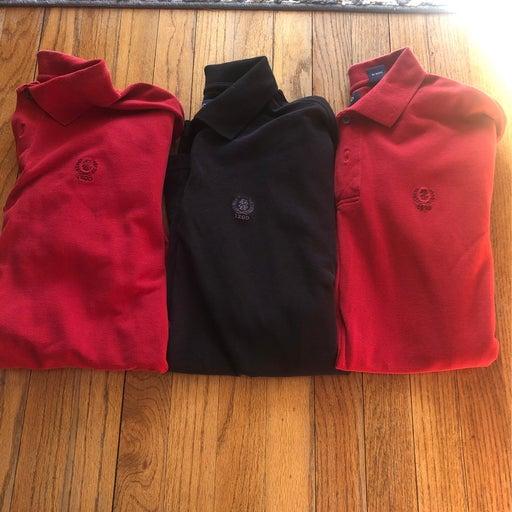 3 Men's IZOD Polos. Size Large