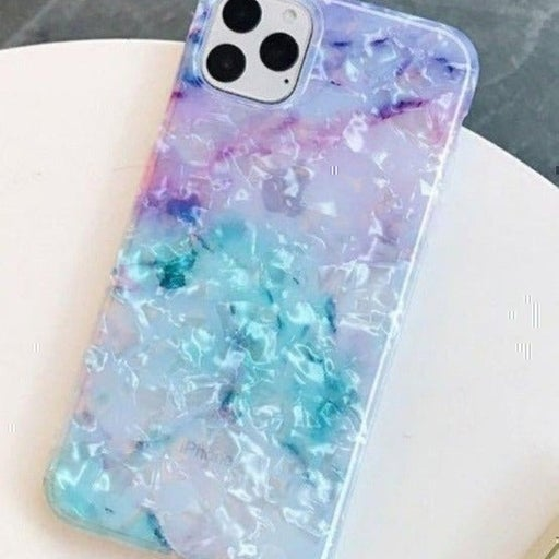 New iPhone 11 Iridescent Blue Marble Cas