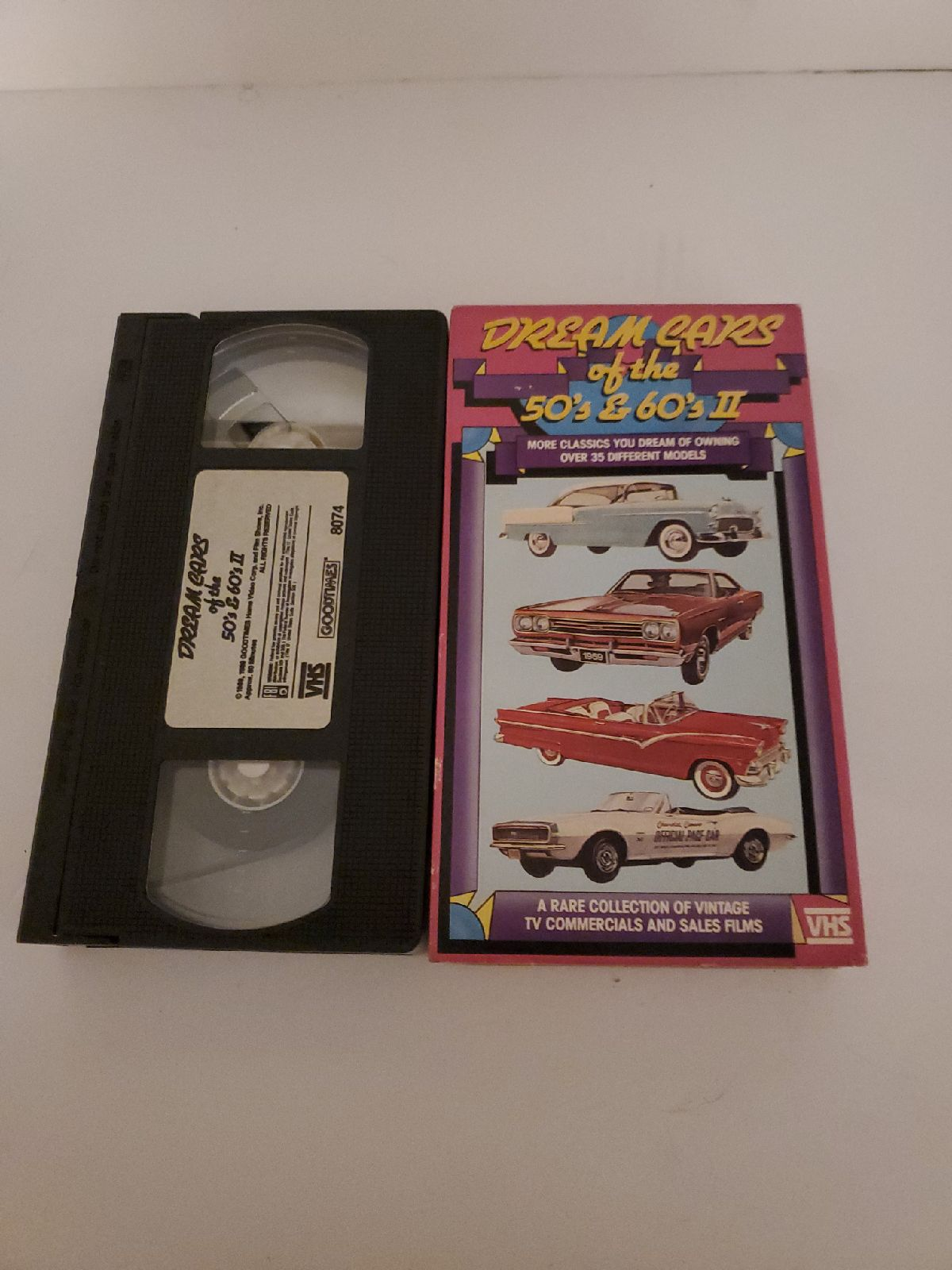 Dream Cars of the 50s & 60s II vhs tape