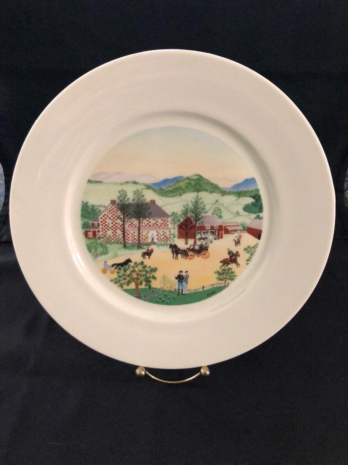 Vntg Grandma Moses Plate