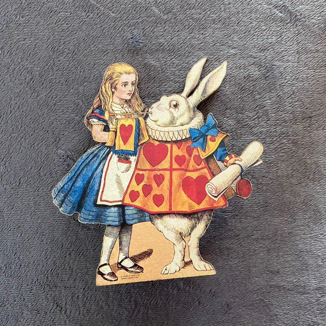 Alice in Wonderland wooden decoration