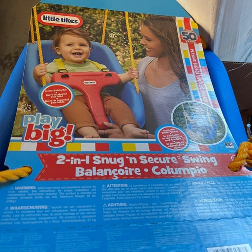 Little Tikes new blue child toddler 2 in 1 swing
