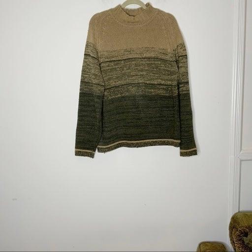 CRAZY HORSE mock neck sweater. L/S