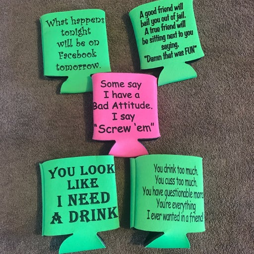 Cup or can koozie cup holders