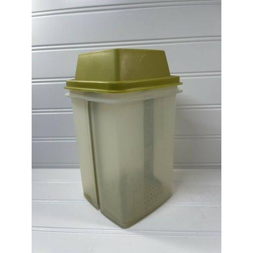 VINTAGE Tupperware Pick-A-Deli Pickle Keeper Insert & Lid Avocado Green 1330-4