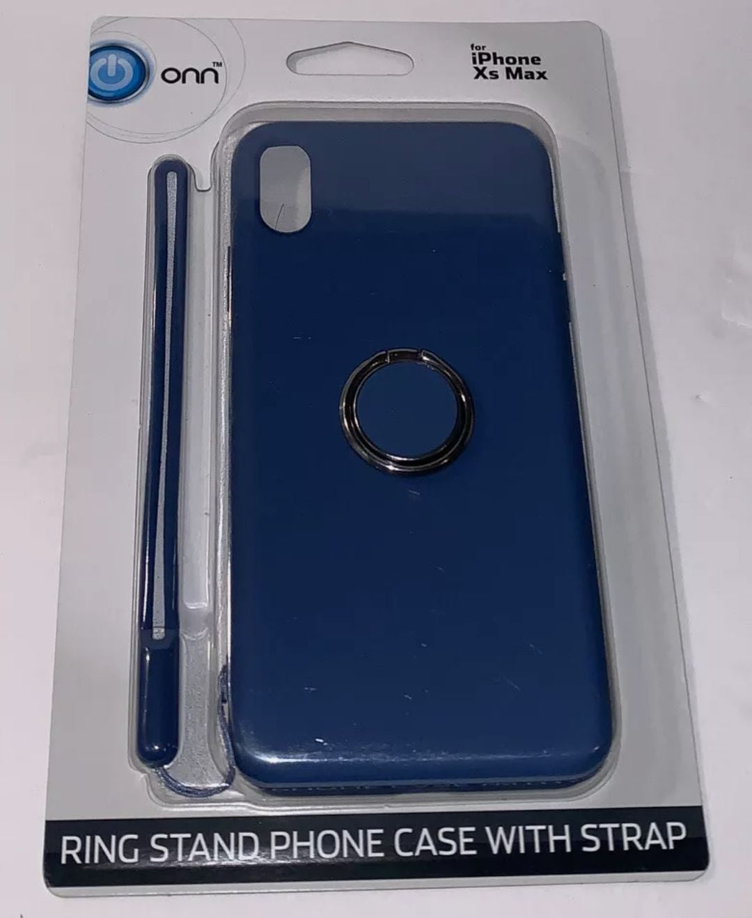 NEW iPhone Xs Max Blue Case with Ring St