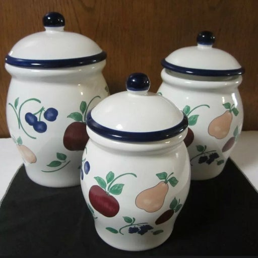 Orchard Medley Princess House Canisters