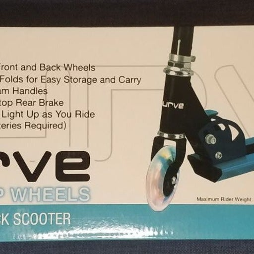 CURVE Folding Kick Metal Scooter LightUp