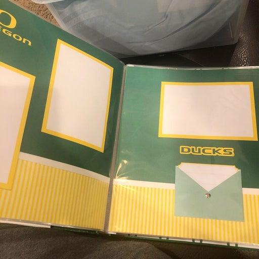 University of Oregon scrapbook complete