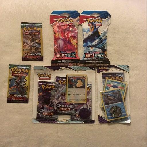 Pokemon Card Lot (8 packs total)