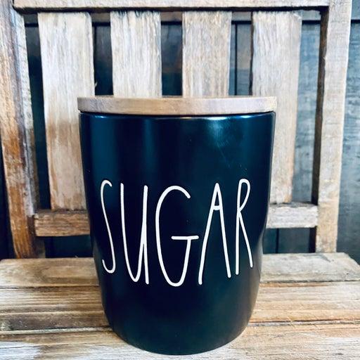 Rae Dunn black sugar cellar canister