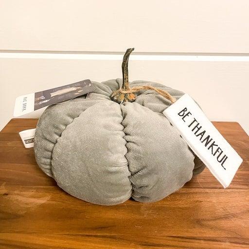 Rae Dunn Be Thankful Plush Pumpkin