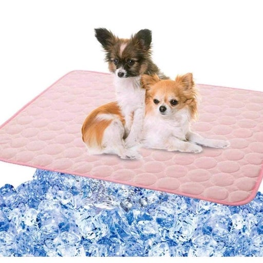 Pet Dog Cooling Mat Pad for Dogs Cats Ice Silk Mat Cooling Blanket Cushion for K