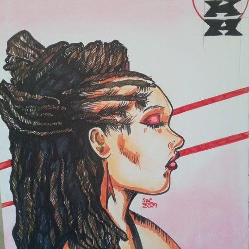 Hand Drawn Customized 22x28 Portrait