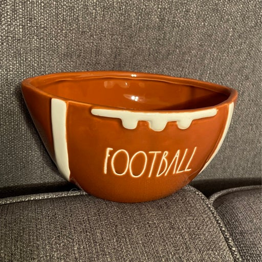 Rae Dunn Football bowl