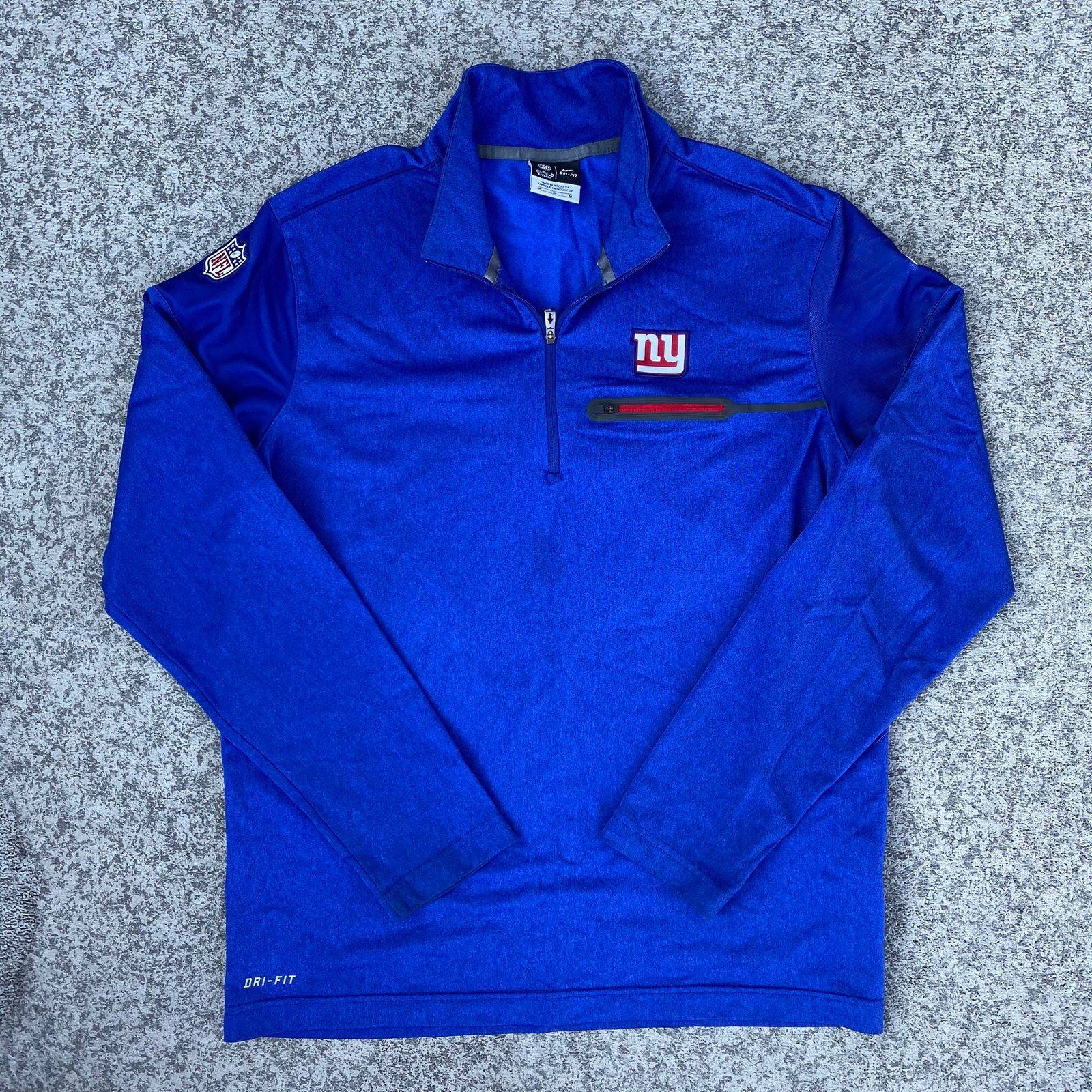 Nike On-Field NY Giants 1/4 Zip Pullover