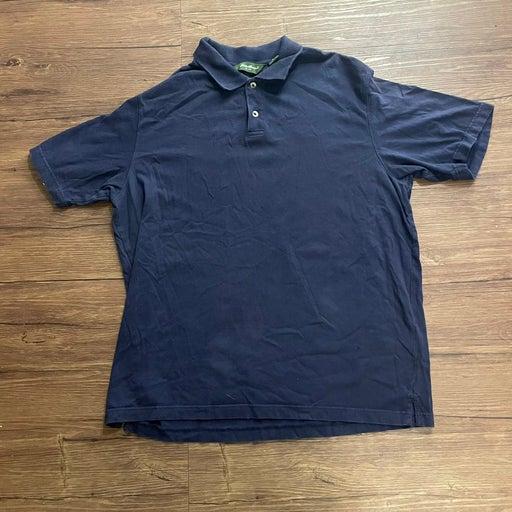 Vintage Eddie Bauer Shirt Mens Large Polo 90s Blue