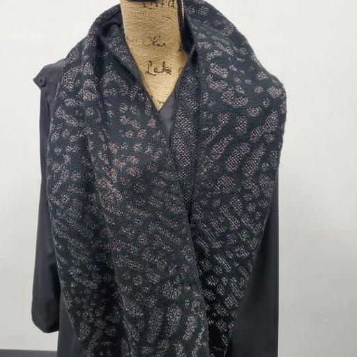 Sparkle leopard infinity scarf