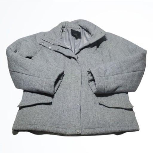Talbots Womens Gray Wool Winter Jacket Size M