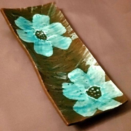 Beautiful Hand Made Clay Flower Art Dish