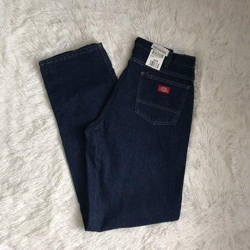 dickies men dark blue jeans size 34x36