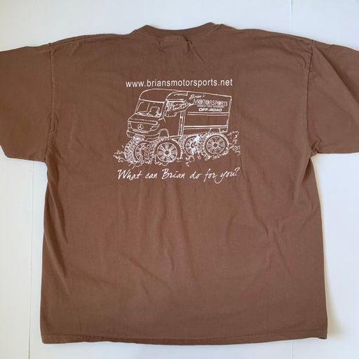 Vintage Brian's Motorsports Brown T-Shirt
