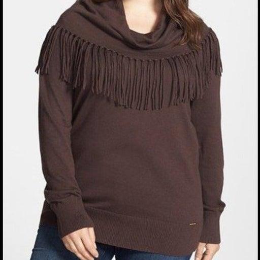 Michael Kors brown sweater 3X cowl neck