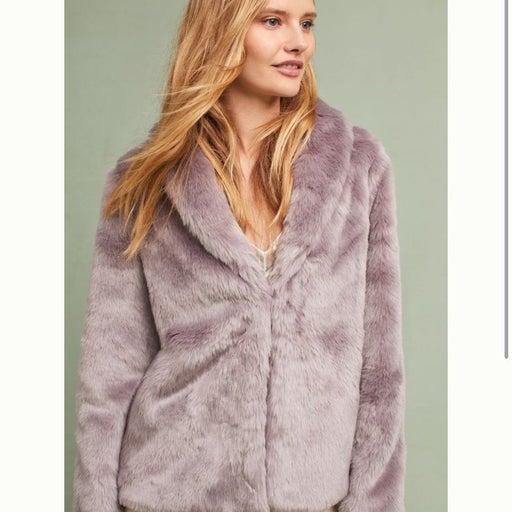 Newella Stone Row Faux Fur Jacket - Anthropologie