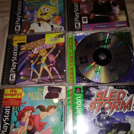 Lot of 6 PS1 Games