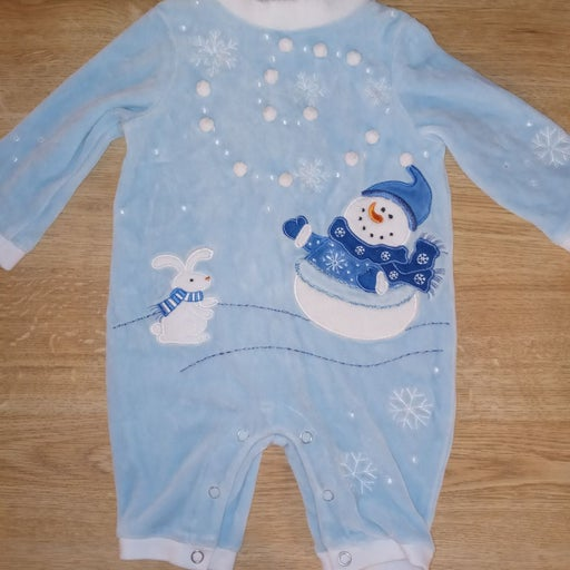 RESERVED Baby Boy Christmas Snap up Slee