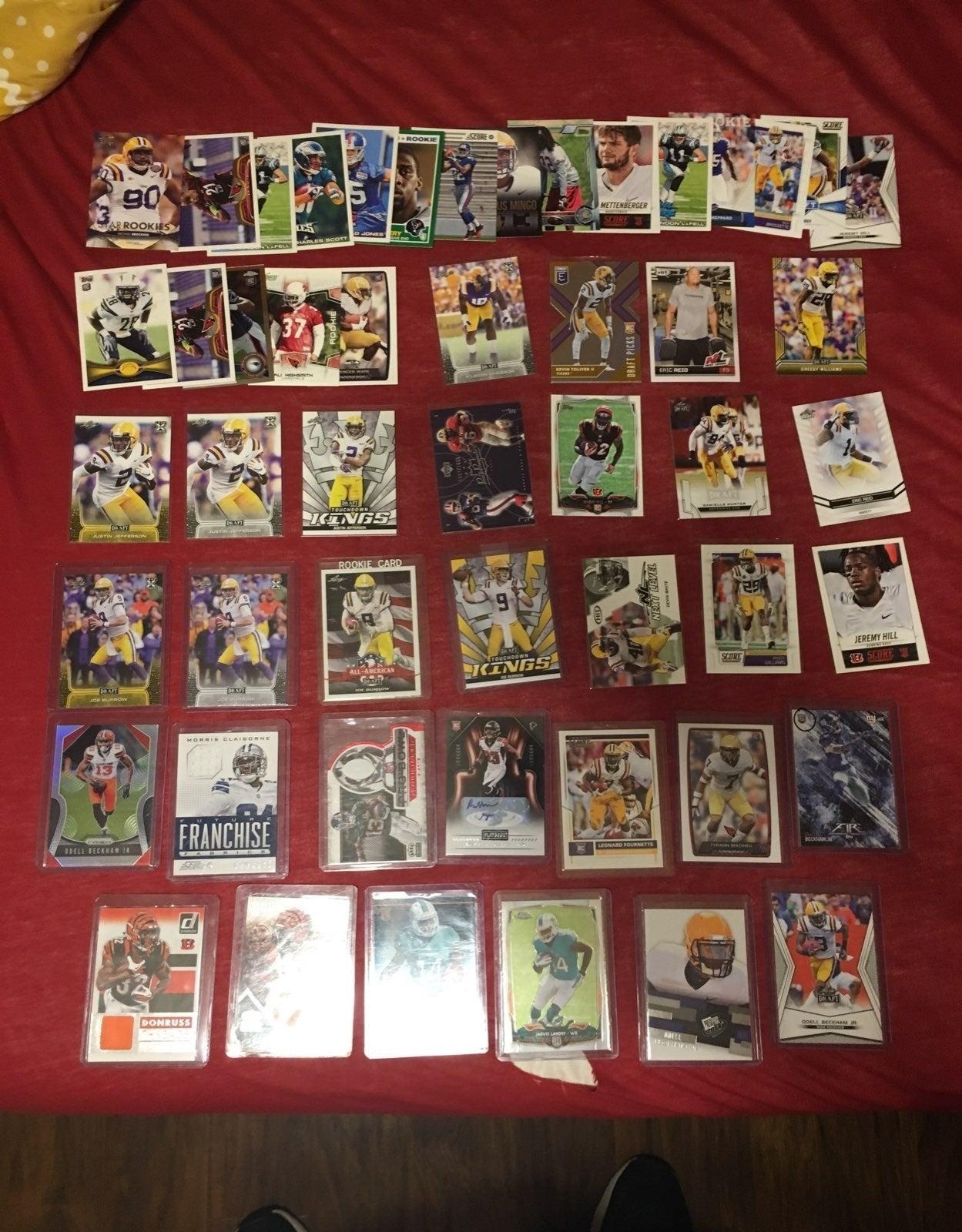 Over 50 LSU Tiger Football Card Lot