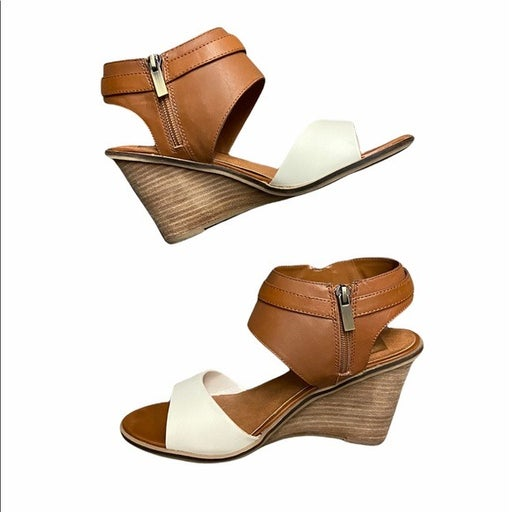DV by Dolce Vita Tan/White Cambria Wedge Sandal