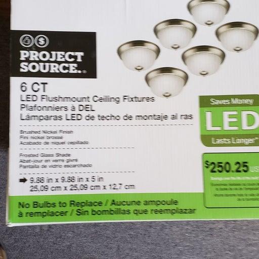 NWT 6pk Led flushmount lights