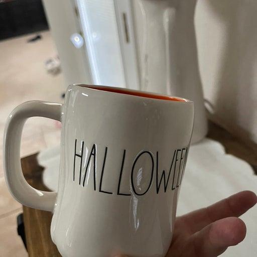 Rae dunn- double sided happy halloween mug