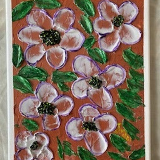 """Textured Canvas Paintings: """"Field of Flowers#1 &#2"""""""