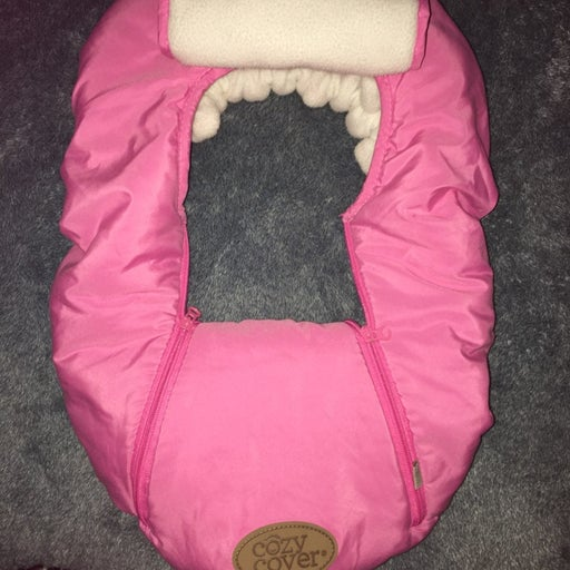 Cozy Cover Pink Infant Carseat Insulator