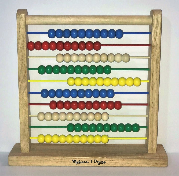 Melissa & Doug abacus counting beads toy