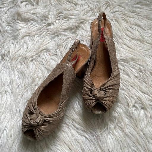 Miz Mooz Veronica Leather Sling Back High Heels Size 10