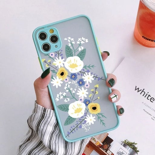 Iphone 12 Pro Max case Floral Heavyduty