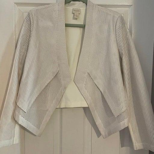 Chicos jacket white sz 1