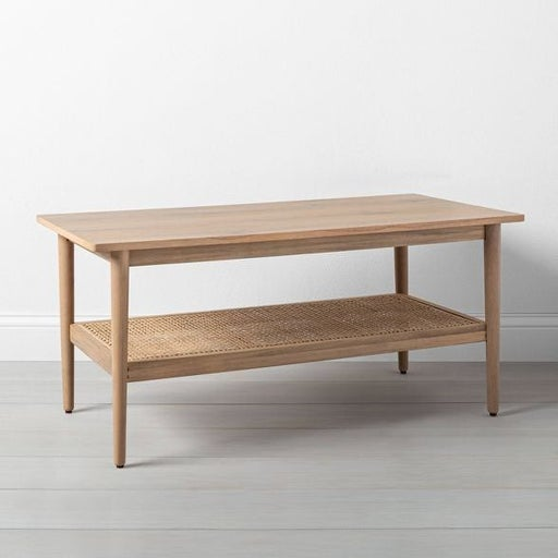 Wood & Cane coffee table / console