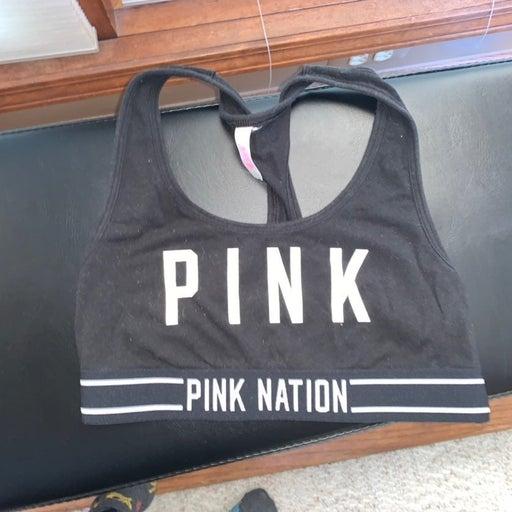 Small Pink Nation Victoria Secret Pink Black Sports