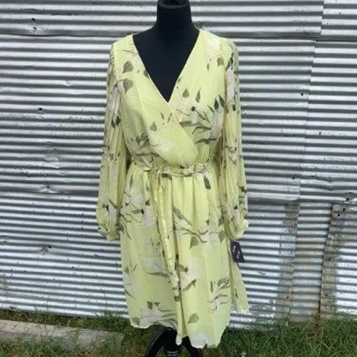 NEW! Lime Plus Size Knee Length Dress 1X