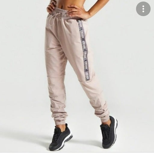 Gymshark Revival high rise relaxed fit taupe Joggers
