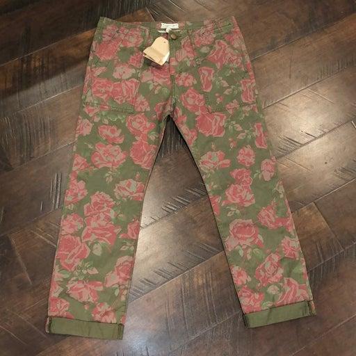 NWT Current/Elliott Cuffed Floral Chino Pants