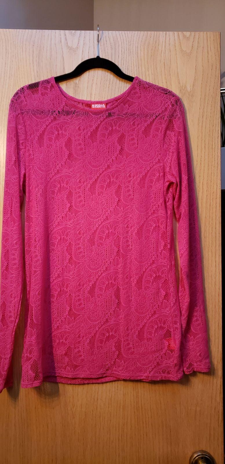 Kirna Zabete Longsleeve Knit Lace Top XL