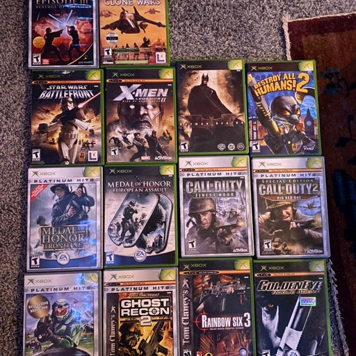 original Xbox game lot