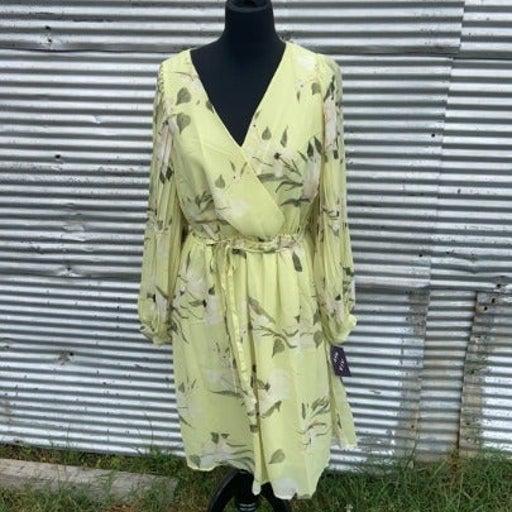 NEW! Lime Plus Size Knee Length Dress 3X
