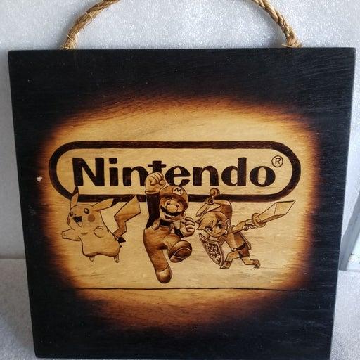 Nintendo Pikachu,  mario & Link Portrait